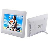 7-Zoll-LCD-Loop-Wiedergabe digitaler Bilderrahmen mit Fernbedienung Musik-Video (weiß und schwarz)