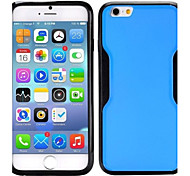 Dual-color Matte Design PC + TPU Case for iPhone 6(Assorted Colors)