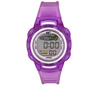 Women's Fashion Design Waterproof Multifunction ABS Case Silicon Band Digital Leisure Sport Wrist Watch (Assorted Color)