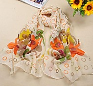 bufanda de la gasa de la moda de las mujeres con el patrón de flor 5 colores