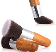 1PCS Exquisite Natural Bamboo Handle Foundation Brush for Powder/Makeup Base Primer/Foundation/Blush