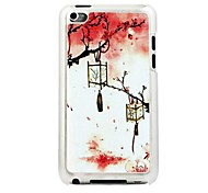 The Lantern Hanging On The Tree Leather Vein Pattern PC Hard Case for iPod touch 4