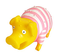 Screaming Pink Stripe Pig Sound Toys Shock Decompression Release Stress Toys
