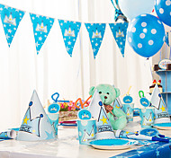 Blue Happy Birthday Flag Banner Party Accessory