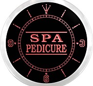 Spa Pedicure Shop Display Decor  Neon Sign LED Wall Clock