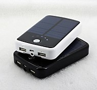 Portable 12000mAh Solar Pocket Power Bank for iphone5/5s Samsung S4/5 and other Mobile Devices (5V 2A, Optional Colors)