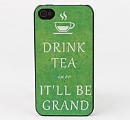 boire du thé style étui de protection pour iPhone 4 / 4s