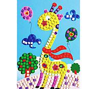 EVA Mosaic Crystal 3D Stickers Children Hand DIY Puzzle Cartoon Giraffe Toy