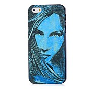 Girl Pattern Hard Case for iPhone 5/5S
