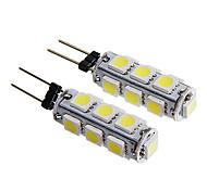 g4 2w 13x5050 SMD 160-180lm 6000-6500k weißes Licht geführte Maisbirne (12V 2 Stück)