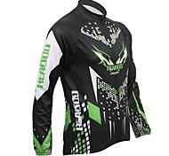 Top/Jersey - Ciclismo - Per uomo - Maniche lunghe - Traspirante/Tenere al caldo/wicking/Fodera di vello Autunno/Inverno M/L/XL/XXL/XXXL