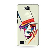 Colorful Woman Design Hard Case for HuaWei Honor 3C