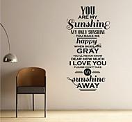 jiubai® usted es mi sol pared cotización pared calcomanía etiqueta