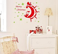 ZOOYOO® Cute Colorful PVC Removable christmas with several bears of Wall Stickers and Wall Decals For Home Decor
