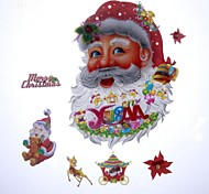 42*27cm Fancy Christmas Decoration Santa Claus Stickers
