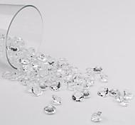 10 millimetri bianco diamante acrilico coriandoli - set di 1000 pezzi