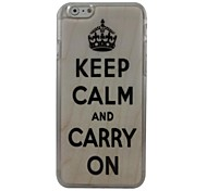 An Crown Plastic Hard Back Cover for iPhone 6