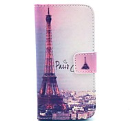 The Eiffel Tower in Paris Pattern PU Leather Full Body case for iPhone 5/5S