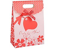 Coway 26.5*19*9 Red Wedding Candy Paper Bag Cover Gift Bags