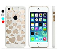 Per Custodia iPhone 5 Transparente Custodia Custodia posteriore Custodia Con cuori Resistente PC iPhone SE/5s/5