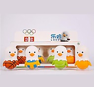 juguete mascota de la suerte de dibujos animados para los niños se divierte los artículos de equipamiento juguetes muñeca figuras del deporte de pollo