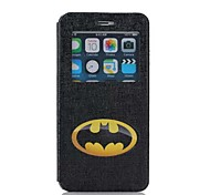 Oil Painting Scrub Pattern PU Leather Cover for iPhone 6