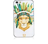 Indian Head Pattern Black Frame Back Case for iPhone 4/4S