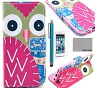 Коко fun® красочным узором сова искусственная кожа полный случай тела для Iphone 6 4.7 с экраном Protecter