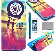 COCO FUN® Chinese knot Pattern PU Leather Case with Screen Protecter, Stand and Stylus for iPhone 6 Plus