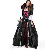 Bloodthirsty Vampire Burgundy and Black Deluxe Floor-length Dress Women's Halloween Costume