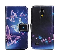 In The Night Sky Butterfly PU Leather Full Body Case with Stand and Card Slot for Samsung Galaxy S4 Mini I9190