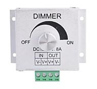 Aluminiumlegierung 8a 1-Kanal-Drehdimmer für LED-Streifen Lampe (DC 12V-24V)
