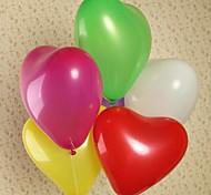 globos de colores en forma de corazón de látex natural para su banquete de boda más colores (color al azar 25pcs)