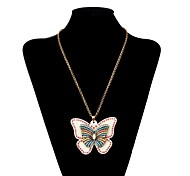 Lureme®Fashion Butterfly Drill   Beads Necklace