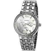 orologio di lusso del diamante in acciaio quadrante banda quarzo del polso delle donne (colori assortiti)