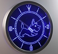 nc0376 Old Fashioned Scottie Dog Shop Neon Sign LED Wall Clock