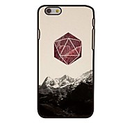 Mountain and Triangle Style Plastic Hard Back Cover for iPhone 6
