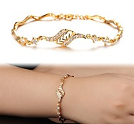 schöne 18 k Vergoldung Mosaik AAAZircon ms gold feinen Armband