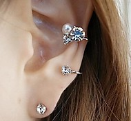 Stud Earrings Alloy Rhinestone Simulated Diamond Silver Golden Jewelry Wedding Party Daily Casual Sports