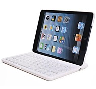 teclado bluetooth w / case para mini ipad 3 ipad mini mini ipad 2 (blanco)