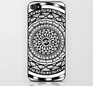 Black And White Mandala Pattern hard Case for iPhone 6