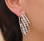 Love Is Your Queen Feelings in Black And White Diamond Exaggerated Big Earrings