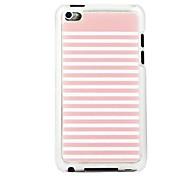 rayé veine de cuir motif pc étui rigide rose et blanc pour ipod touch 4