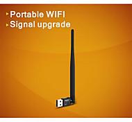 comfast® cf-wu735p 2.4ghz 802.11b / g / n 150Mbps de mini usb adaptador de red inalámbrico 2.0 wi-fi - negro