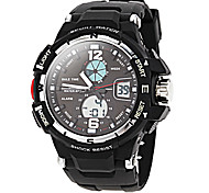 Men's Multifunction Analog-Digital Rubber Band Sports Watch (Assorted Colors)