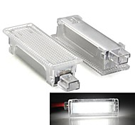 A Pair White 18 LED 3528 SMD Courtesy Door Lights Lamps for BMW E81 E90 E60 E63