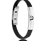 Men's Fashion Personality Titanium Steel Silicone Twelve Constellation Leo Bracelets