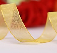 Solid Color 5/8 Inch Organza Ribbon - 50 Yards Per Roll(More Colors)