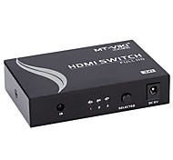 HDMI V1.4 3X1 HDMI Switch(3 in 1 out)Support 3D 1080P