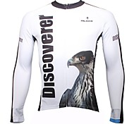 PALADIN Bike/Cycling Tops Men's Long Sleeve Breathable / Ultraviolet Resistant / Quick Dry 100% Polyester White / Sky BlueS / M / L / XL